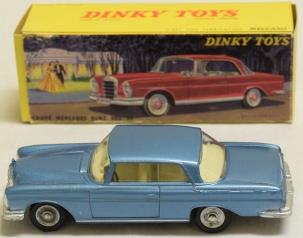 Dinky FRENCH DINKY #533 MERCEDES BENZ 300 SE, BLUE, MINT W/ NEAR-MINT BOX-PRISTINE!