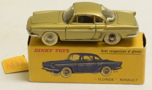 Dinky FRENCH DINKY #543 RENAULT FLORIDE, METALLIC GREEN-GOLD, NR-MINT, GOOD ORIG BOX