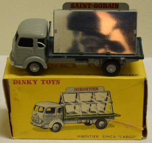Dinky DINKY 579 MIROITIER SIMCA GLASS TRUCK, NEAR-MINT MODEL W/ EXCELLENT BOX!