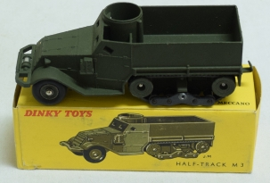 Dinky FRENCH DINKY #822 WHITE M3 HALF TRACK, MATTE, NR-MINT W/ EXC ORIGINAL BOX!