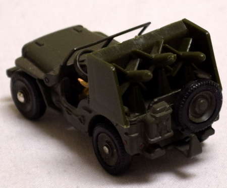Dinky FRENCH DINKY #828 ARMY JEEP SS10 MISSLE LAUNCHER, NEAR-MINT W/ GOOD BOX