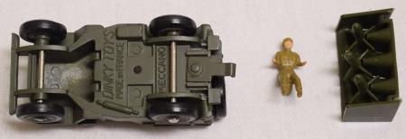 Dinky FRENCH DINKY #828 ARMY JEEP SS10 MISSLE LAUNCHER, NEAR-MINT W/ GOOD BOX
