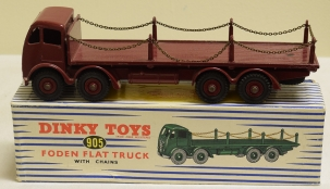 Dinky DINKY 905 FODEN FLAT TRUCK W/ CHAINS, NEAR-MINT MODEL W/ EXCELLENT BOX!