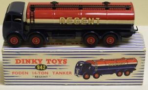Dinky DINKY 942 FODEN REGENT TANKER, MINT MODEL W/ NEAR-MINT BOX!