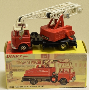 Dinky DINKY 970 JONES FLEETMASTER CANTILEVER CRANE, NEAR-MINT MODEL W/ EXCELLENT BOX!