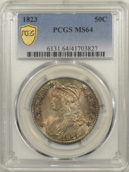 New Certified Coins 1823 CAPPED BUST HALF DOLLAR – PCGS MS-64 FRESH & NEAR GEM!