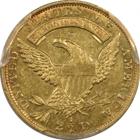 New Certified Coins 1831 $2.50 CAPPED BUST QUARTER EAGLE GOLD PCGS AU-55, FLASHY & WELL STRUCK, RARE
