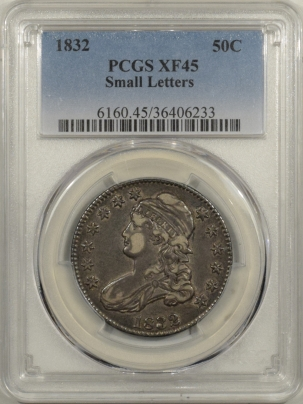 Early Halves 1832 CAPPED BUST HALF DOLLAR – SMALL LETTERS – PCGS XF-45