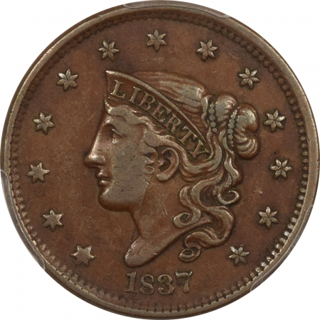 New Certified Coins 1837 CORONET HEAD LARGE CENT – HEAD OF 1838 – PCGS VF-35