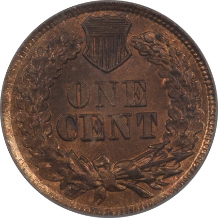 New Certified Coins 1864 INDIAN CENT – BRONZE – PCGS MS-64 RB