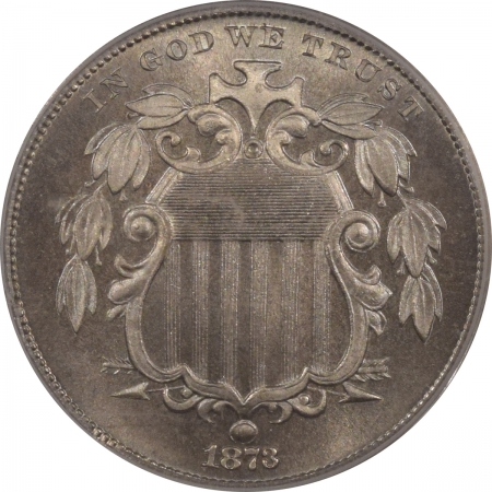 New Certified Coins 1873 PROOF SHIELD NICKEL – CLOSED 3 – PCGS PR-65 PRETTY!