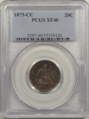 New Certified Coins 1875-CC TWENTY CENT PIECE – PCGS XF-40