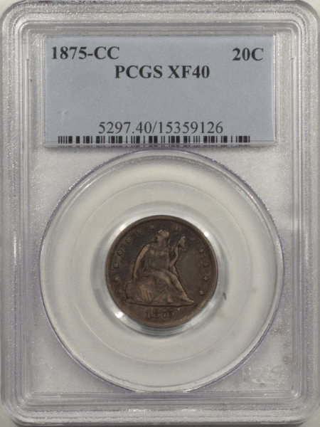 New Certified Coins 1875-CC TWENTY CENT PIECE – PCGS XF-40