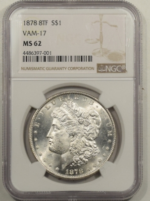 Morgan Dollars 1878 8TF MORGAN DOLLAR VAM-17 – NGC MS-62