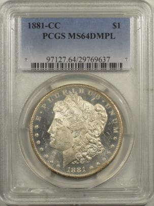 Dollars 1881-CC MORGAN DOLLAR PCGS MS-64 DMPL, FRESH & FLASHY, NICE MIRRORS, CARSON CITY