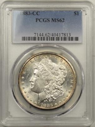 New Certified Coins 1883-CC MORGAN DOLLAR PCGS MS-62, BLAST WHITE & PQ! CARSON CITY!