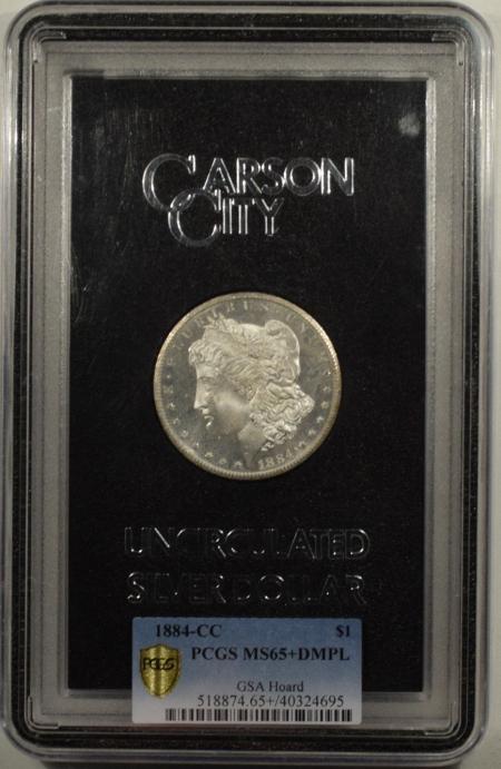 New Certified Coins 1884-CC MORGAN DOLLAR GSA – PCGS MS-65+ DMPL WITH CASE, CARD & BOX. DEEP POP 1/3
