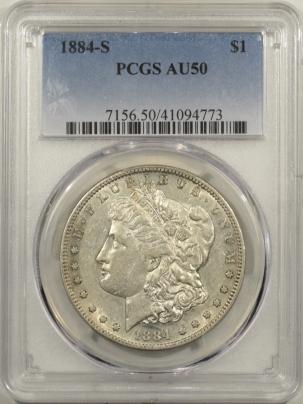 Dollars 1884-S MORGAN DOLLAR PCGS AU-50, FLASHY