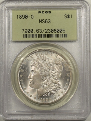 New Certified Coins 1890-O MORGAN DOLLAR PCGS MS-63, OGH, FRESH & REALLY PQ!