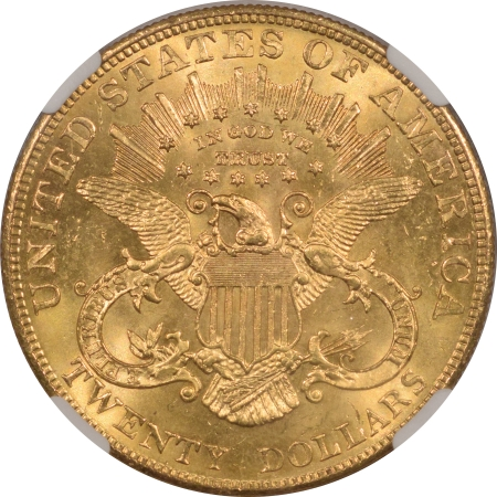 New Certified Coins 1904 $20 LIBERTY GOLD – NGC MS-65+