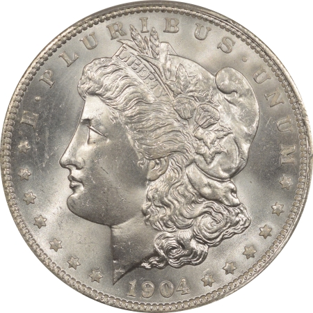 New Certified Coins 1904-O MORGAN DOLLAR – PCGS MS-65 BLAST WHITE, PQ+ CAC APPROVED!