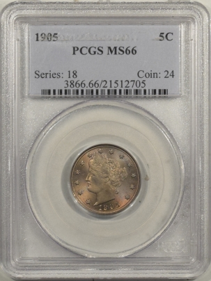 Coin World/Numismatic News Featured Coins 1905 LIBERTY NICKEL – PCGS MS-66 PRETTY & PREMIUM QUALITY!