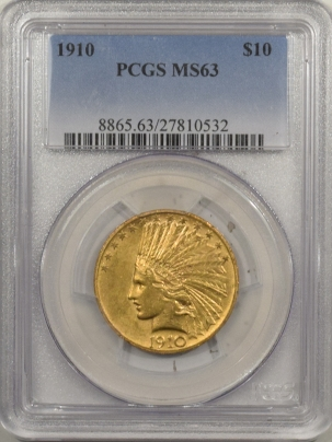 $10 1910 $10 INDIAN GOLD – PCGS MS-63