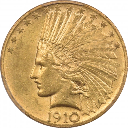New Certified Coins 1910 $10 INDIAN GOLD – PCGS MS-63