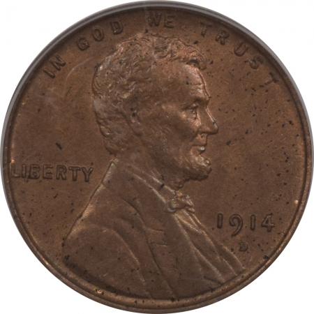 New Certified Coins 1914-D LINCOLN CENT – PCGS MS-62 BN KEY!