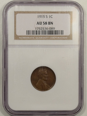 New Certified Coins 1915-S LINCOLN CENT – NGC AU-58 BN