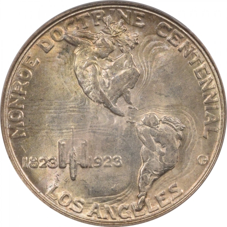 New Certified Coins 1923-S MONROE COMMEMORATIVE HALF DOLLAR – PCGS MS-64, PRETTY & PREMIUM QUALITY!