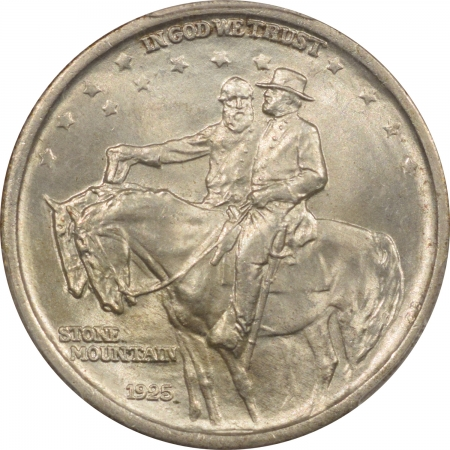 New Certified Coins 1925 STONE MOUNTAIN COMMEMORATIVE HALF DOLLAR – PCGS MS-66, FRESH & FLASHY!