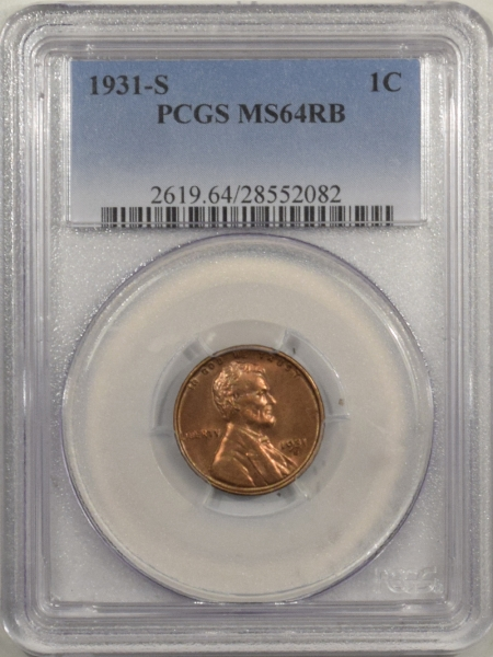 New Certified Coins 1931-S LINCOLN CENT – PCGS MS-64 RB