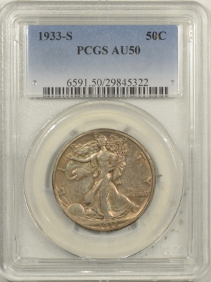 Coin World/Numismatic News Featured Coins 1933-S WALKING LIBERTY HALF DOLLAR – PCGS AU-50