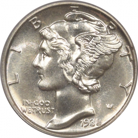 New Certified Coins 1938 PROOF MERCURY DIME – PCGS PR-67 FRESH & PREMIUM QUALITY!
