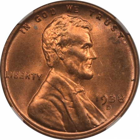 New Certified Coins 1938-D LINCOLN CENT – NGC MS-67 RD PRETTY!