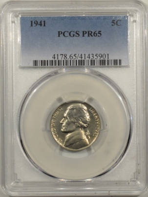 Jefferson Nickels 1941 PROOF JEFFERSON NICKEL – PCGS PR-65