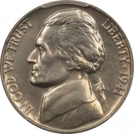 Jefferson Nickels 1941 PROOF JEFFERSON NICKEL – PCGS PR-65