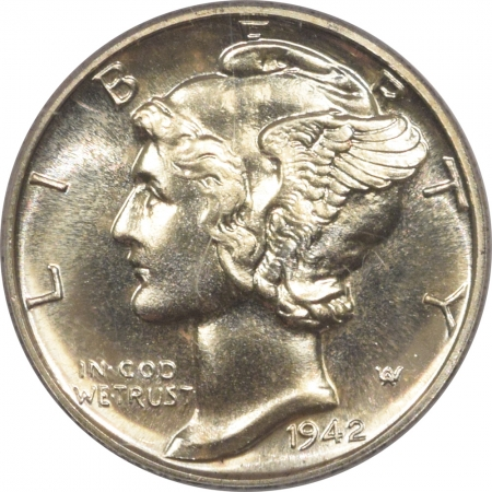 New Certified Coins 1942 PROOF MERCURY DIME – PCGS PR-67 FRESH WHITE & PREMIUM QUALITY!