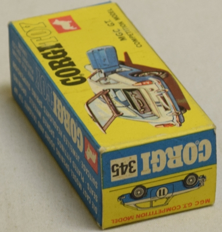 Corgi CORGI 345 MGC G.T. COMPETITION MODEL, NEAR-MINT MODEL W/ NEAR-MINT BOX!