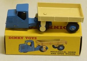 Dinky DINKY 415 MECHANICAL HORSE/ WAGON, NEAR-MINT MODEL W/ BOXED MODEL & EMPTY BOX!
