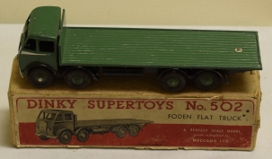Dinky DINKY 502 FODEN FLAT TRUCK, VG/EXCELLENT MODEL W/ VG BOX!