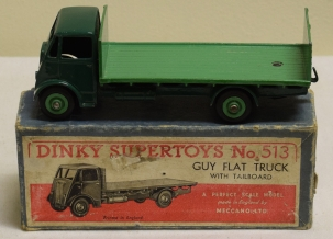 Dinky DINKY 513 GUY FLAT TRUCK WITH TAILBOARD, NEAR-MINT MODEL W/ GOOD BOX!
