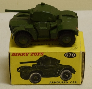 Dinky DINKY 670 ARMOURED CAR, NEAR-MINT MODEL W/ EXCELLENT BOX!