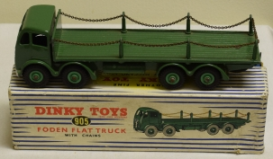 Dinky DINKY 905 FODEN FLAT TRUCK WITH CHAINS, NEAR-MINT MODEL W/ VG+ BOX!