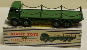 Dinky DINKY 905 FODEN FLAT TRUCK WITH CHAINS, EXCELLENT MODEL W/ VG BOX!