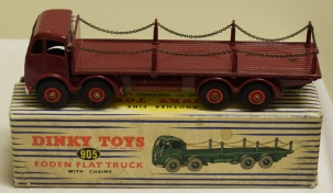 Dinky DINKY 905 FODEN FLAT TRUCK W/ CHAINS, NEAR-MINT MODEL W/ VG BOX!