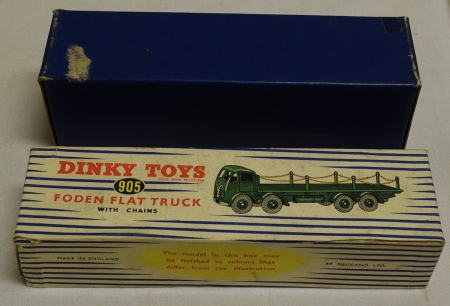 Dinky DINKY 905 FODEN FLAT TRUCK W/ CHAINS, EXCELLENT MODEL W/ VG BOX!