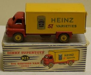 """DINKY 923 BIG BEDFORD """"HEINZ"""" VAN EXCELLENT MODEL W/ VG BOX!"""