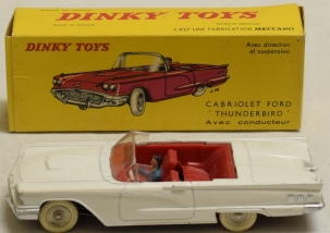 Dinky DINKY 555 CABRIOLET FORD THUNDERBIRD, NEAR-MINT MODEL W/ EXCELLENT BOX!